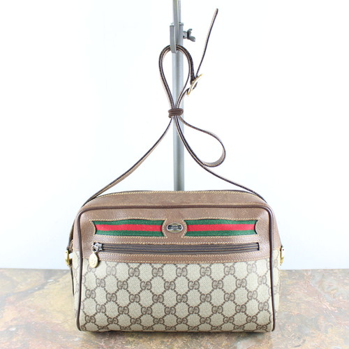 .OLD GUCCI GG PATTERNED SHERRY LINE SHOULDER BAG MADE IN ITALY/オールドグッチGG柄シェリーラインショルダーバッグ 2000000048833