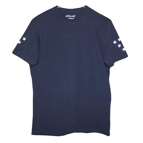 N°Dオリジナル/Sleeve STAR/スリムフィット/Tシャツ/ネイビー