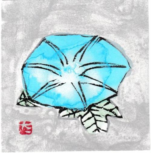 小版画/8月 朝顔