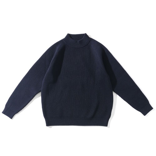 "EVCON(LIVING CONCEPT)""LOW GAUGE MOCK NECK KNIT"""