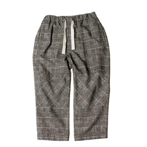 Easy Wide Pants Check - black check <LSD-AI3P4>