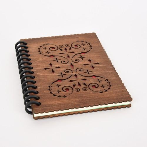 木のノートブックH ハート(木製ルーズリーフ)
