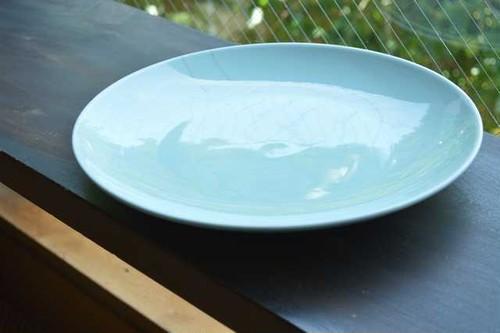 陶器・大皿 (緑)