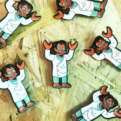 "THUMBS""Dr Nick x Futurama Pin Badge"""