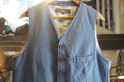 "FREEMANS SPORTING CLUB linen × cotton Vest ""Made in JAPAN"""