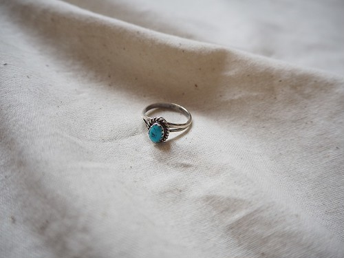 <vintage silver925>turquoise mini ring