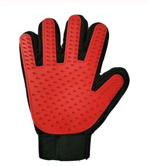 【注文商品】Pet Hair Cleaning Massage Two Side Brush Glove【Red】