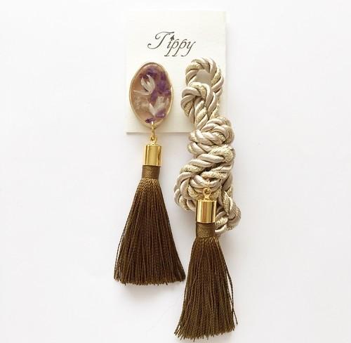 rope tassel pierce / earring