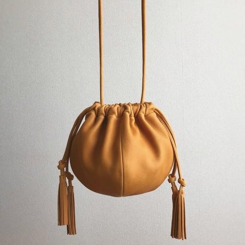 balloon-pouchette / yellow-brown