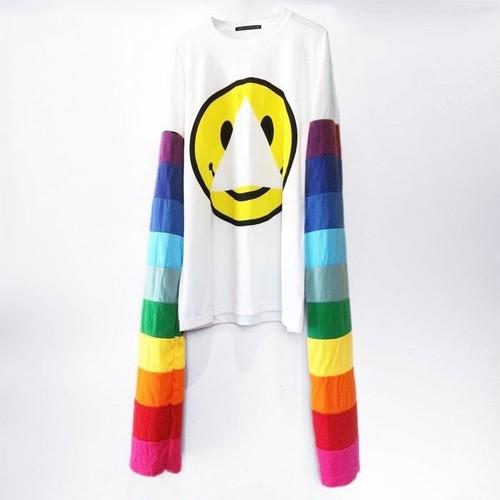 """SMILEY"" Printed Long-Sleeve T-Shirts"