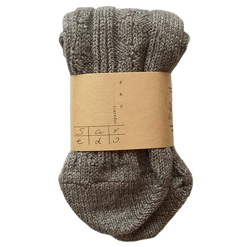 <saredo-されど->re-specked cotton rib and cable socks 「Tortoise」