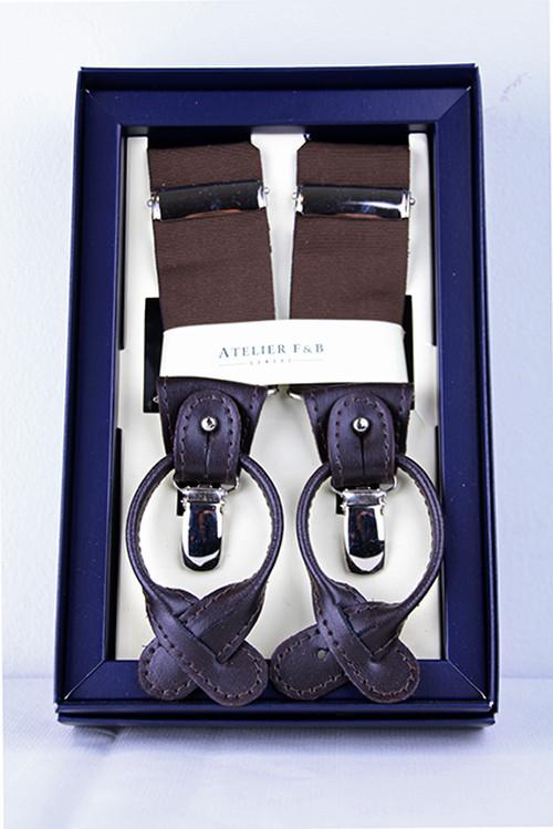 AtelierF&B Suspender -Brown アトリエF&B サスペンダー