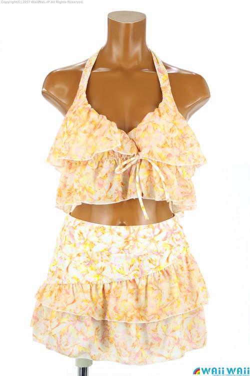 Sweet Flavor - カシュクールトップスアシンメトリースカート付 3点セット(337030 - 51:オレンジ2)