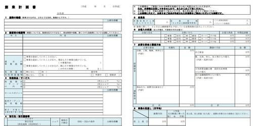 日本政策金融公庫から500万円の融資を受けた時に作成した創業計画書