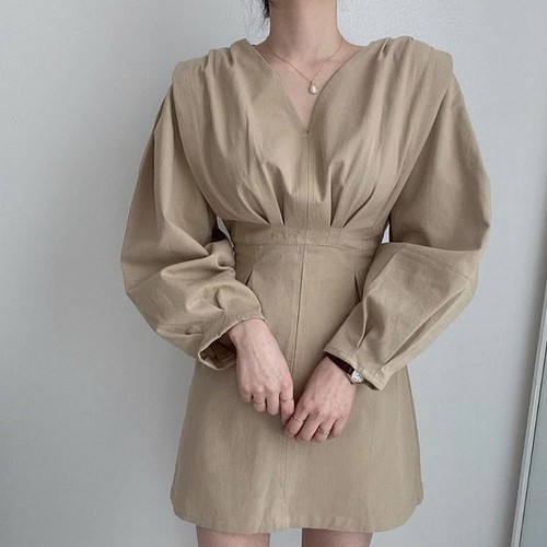 simple shirt dress 2color