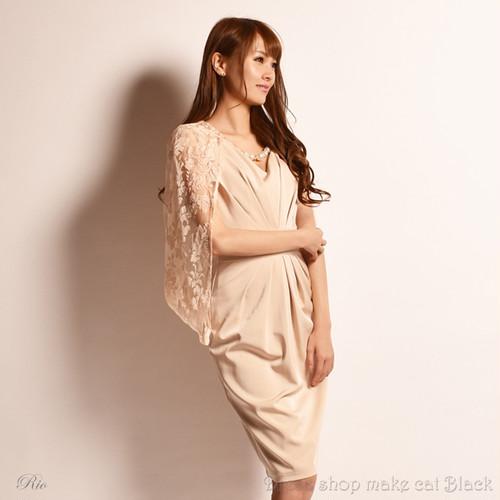 SALE (S,Mサイズ) 3色展開 パーティードレス ¥10.800- (税込)  make-217057 ドレス 女子会 パーティー