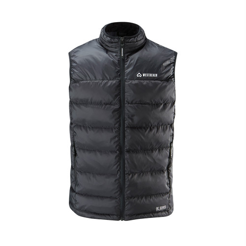 Downbeat Down Vest  - Black -
