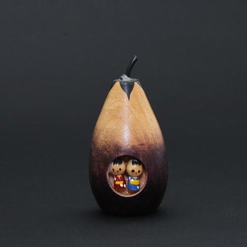 昭和レトロ 茄子こけし (480)