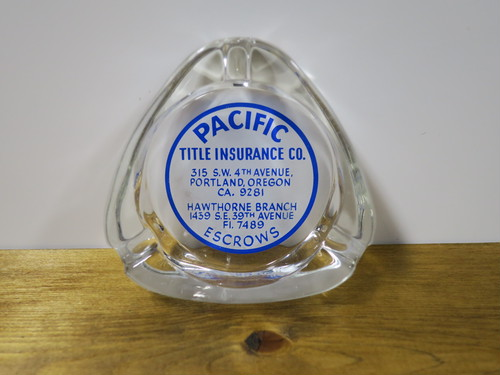 ヴィンテージU.S.A アッシュトレイ/灰皿(ガラス) PACIFIC