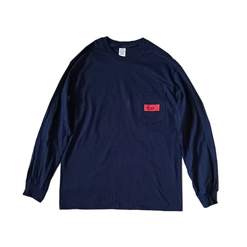 scar /////// BLACKBOX POCKET L/S TEE (Navy)