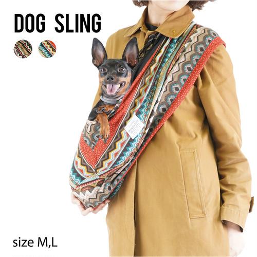 DOG SLING(ETHNIC COLOR) ドッグスリング エスニック