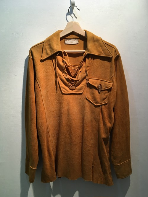 【70'S】レザープルオーバーシャツ