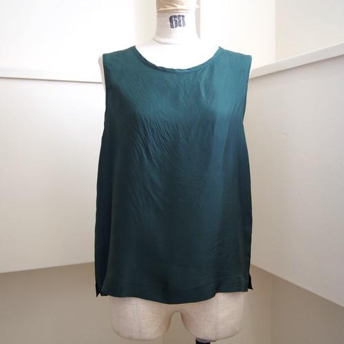 【hippiness】cupro tanktop (green) /【ヒッピネス】キュプラ タンクトップ (グリーン)