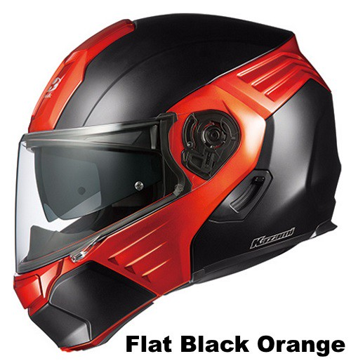 OGK KAZAMI flat-black-orange