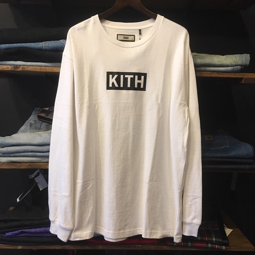 【KITH NYC】 -キス-BOX LOGO LONG SLEEVE WHITE