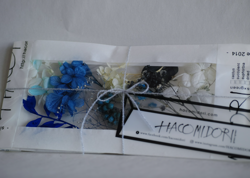 残3点【perl blue】dried & preserved flower pac