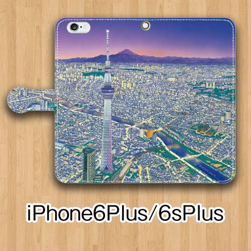 【受注生産】パノラマ「浅草・夜景」iPhone6Plus/6sPlus用 手帳型ケース