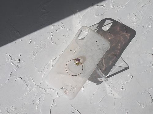 #Tropfen 雫と真鍮リングのスマホケース #Android (Xperia AQUOS Galaxy ARROWS 他 )
