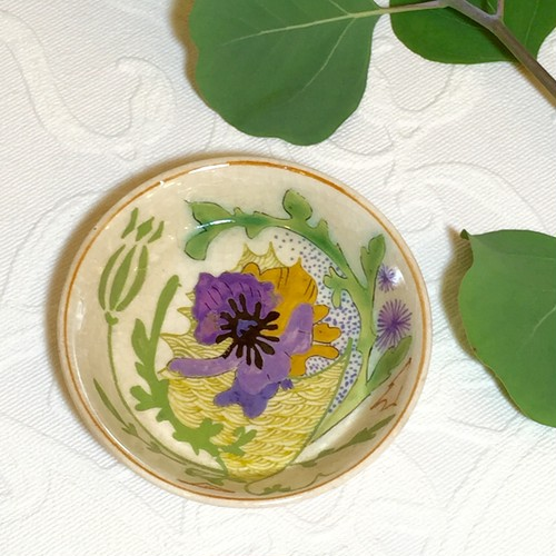 "Early 20 Century ""Zuid Holland Gouda"" Hand Painted Art-Nouveau Petit Plate   [CPV-10-c]"