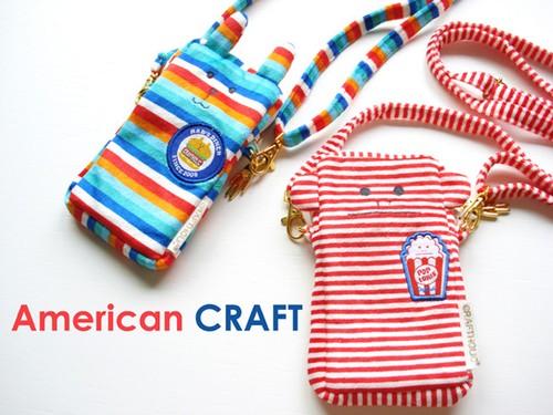 CRAFTHOLIC American CRAFT アメリカンクラフト モバイルポーチ