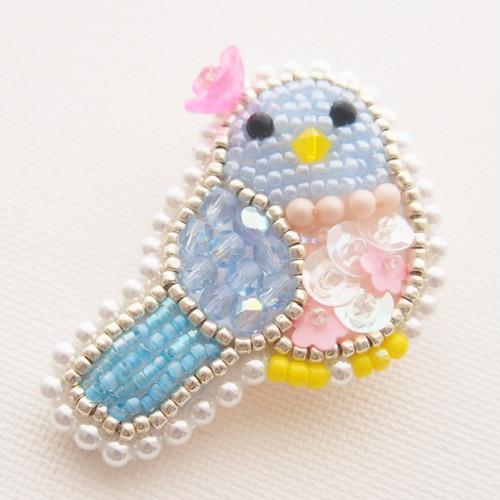 【4/8 21:00ー販売】幸せの青い鳥ちゃんブローチ