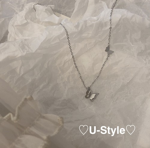 ♡ butterfly necklace♡