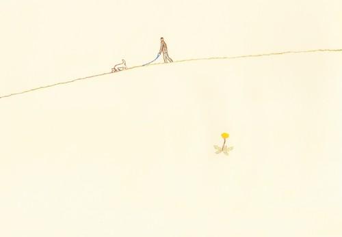 ストックイラストレーション 「タンポポの風」