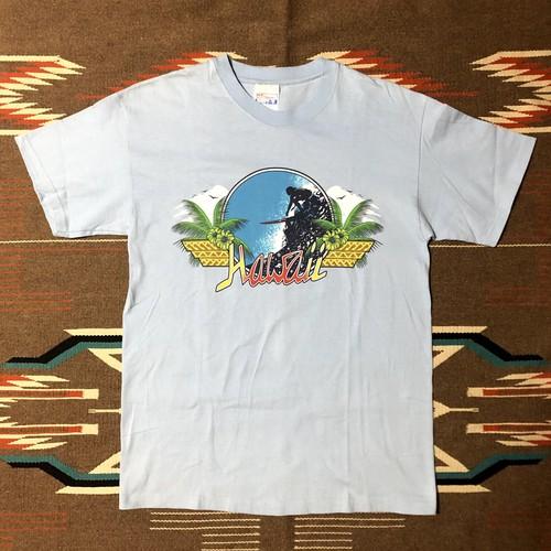 90's Hanes HAWAII SURF ハワイ サーフ サーフィン ビンテージ Tシャツ デッドストック(水色,M)
