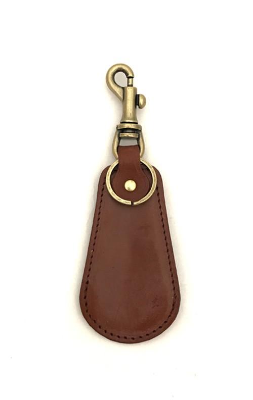 RE.ACT Bridle Leather Shoehorn Key Holder Hazel