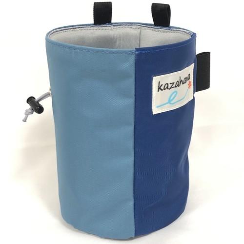 kazahanaチョークバッグ    ライトブルー/ブルー