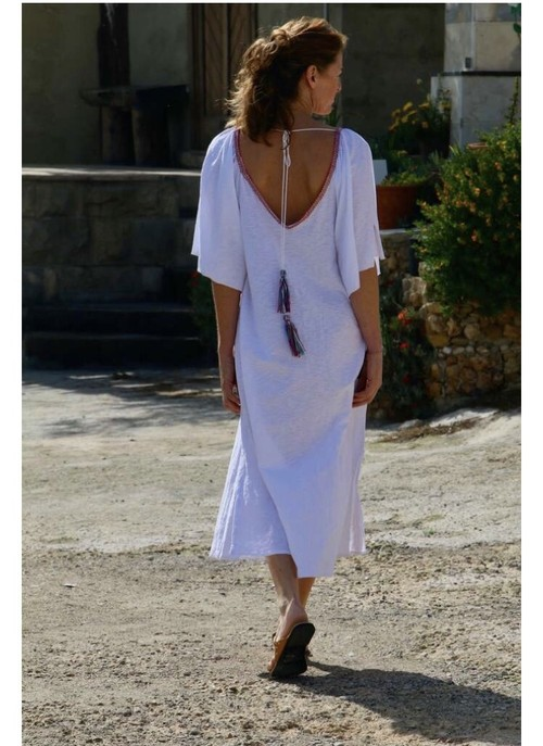 ◆Mon ange Louise◆ CHILL LONG KAFTAN(white)ビーチドレス ワンピース