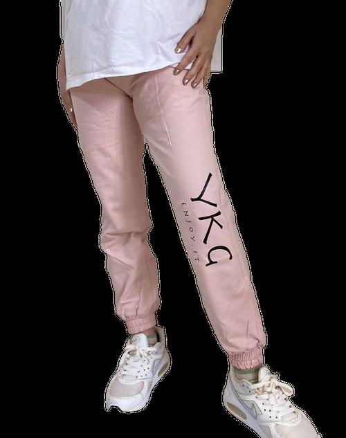 【YKG】ロゴボトムス【ピンク】【新作】イタリアンウェア《M&W》