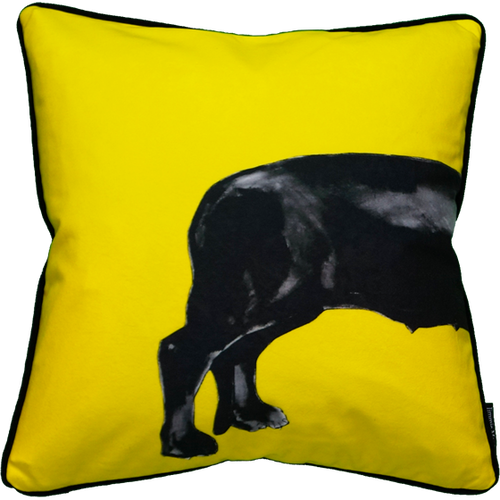 Jimmie Martin Cushions Yellow sausage dog [BACK]