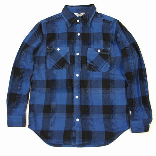 SALE FIVE BROTHER (ファイブブラザー) ヘビーネルワークシャツ BLUEBROCK M