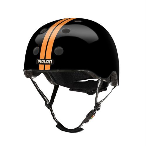 【メロンヘルメット】ストレート オレンジ ブラック