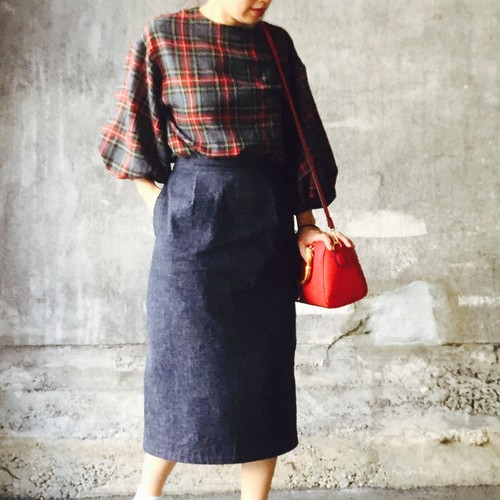 Chinon handmade clothes  ウールガーゼバルーンにブラウス