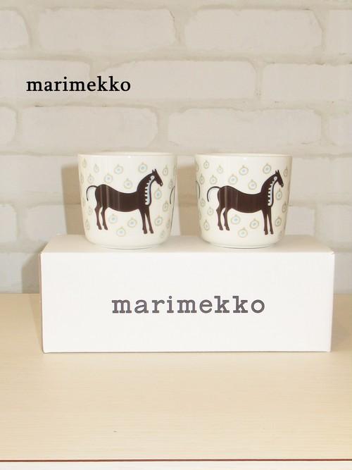 marimekko(マリメッコ)/ラテマグセット/Musta Tamma/71099