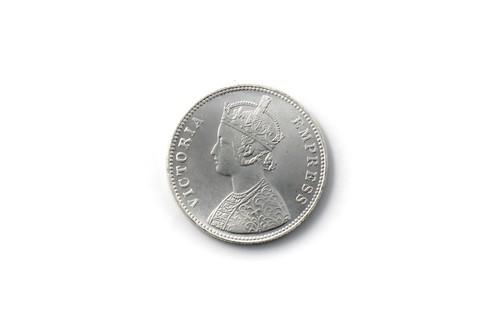 英領インド帝国 1ルピー銀貨 レプリカ