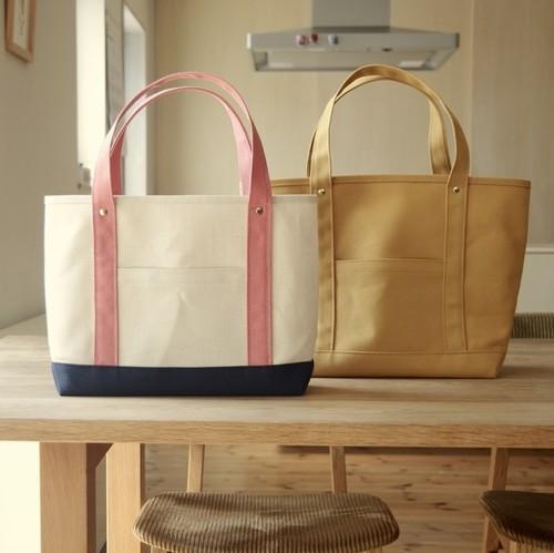 倉敷帆布のトートバッグ M(A4)サイズ 組み合わせ自由