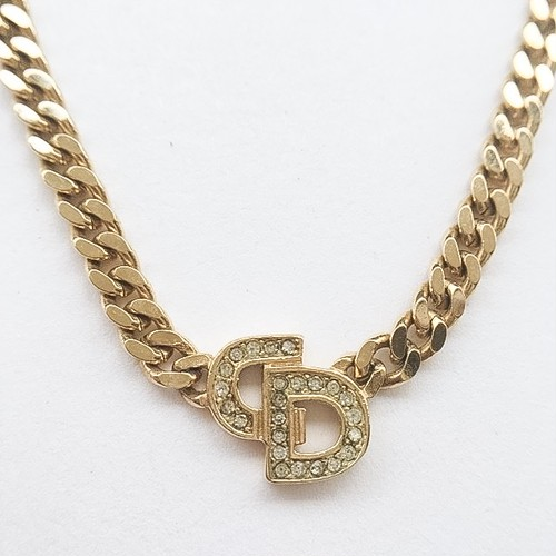 """""""Dior"""" gold chain necklace[n-120]"""
